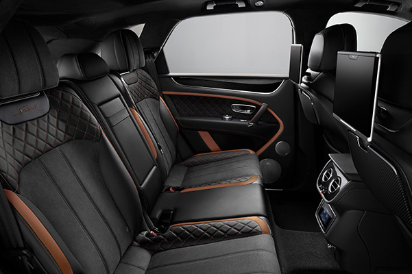 Bentley Bentayga back seat
