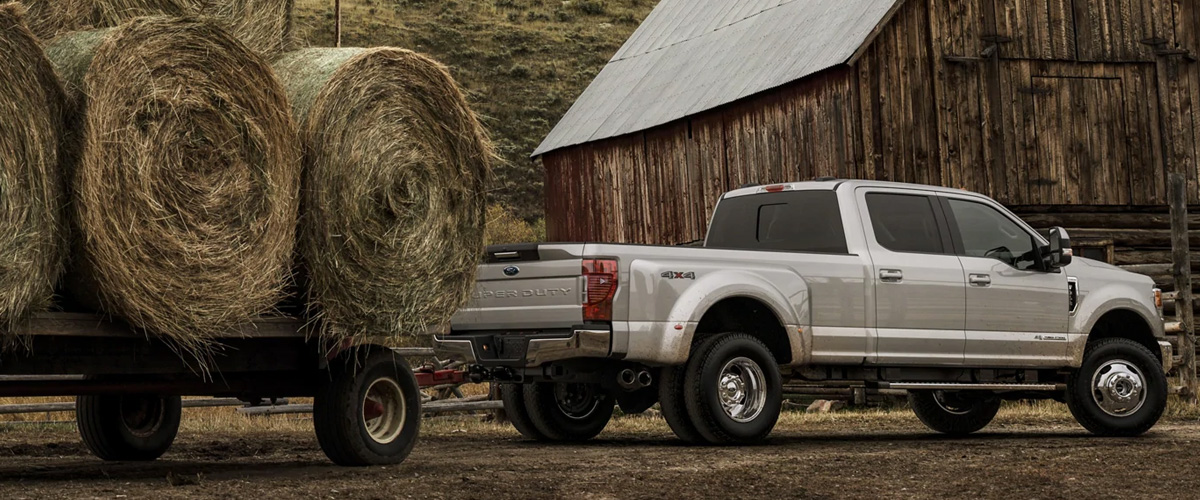 Ford Superduty Trailing Hay.