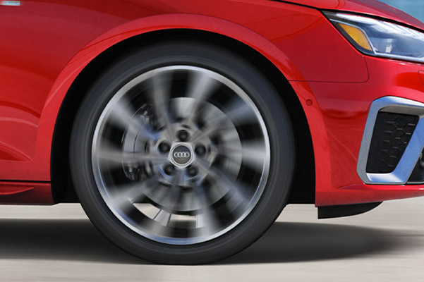 Audi A4 Red sedan showcasing the Wheels Sport suspension