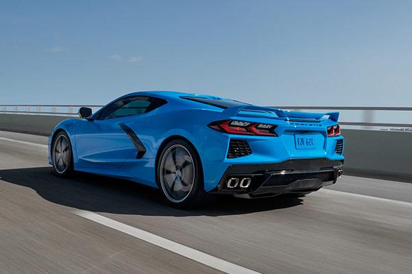 Corvette Backside on the road