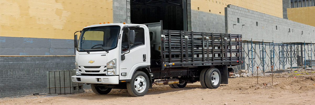 Chevrolet Low Cab Forward on a construction site