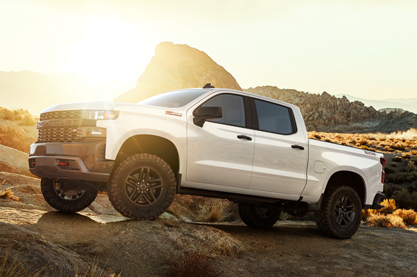 2020 Silverado 1500 Pickup Truck Off Road Angle