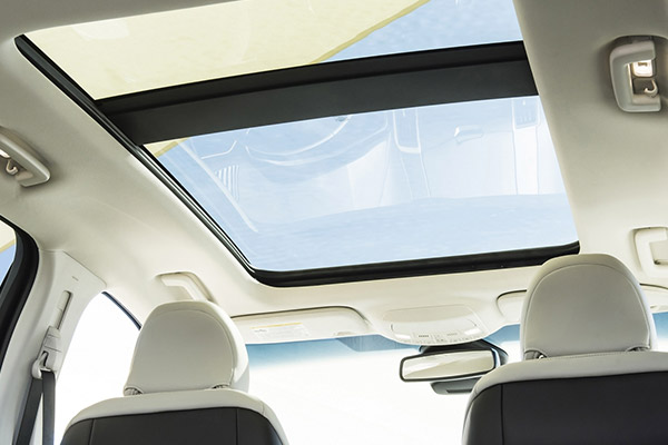 interior view showcasing the sunroof on the Ford edge suv