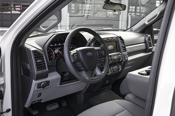 2020 Ford Super Duty dashboard interior driver's side