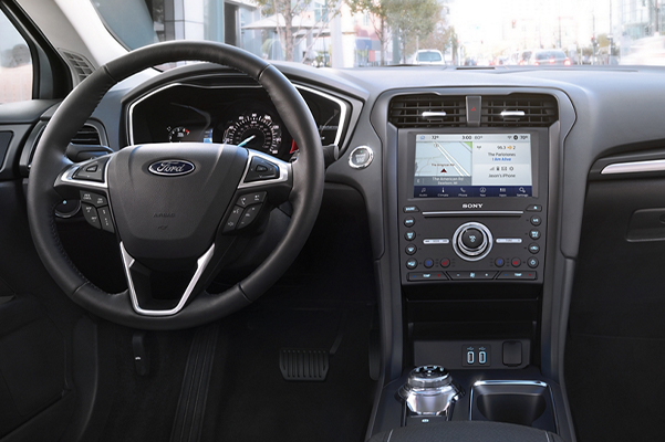 2020 Ford Fusion Titanium interior shown with standard technology features