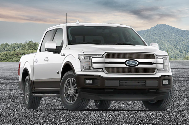 2020 Ford F-150 King Ranch on a mountain background