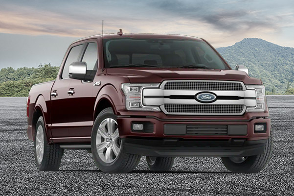 2020 Ford F-150 Platinum on a mountain background