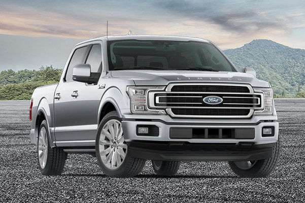 2020 Ford F-150 Limited on a mountain background