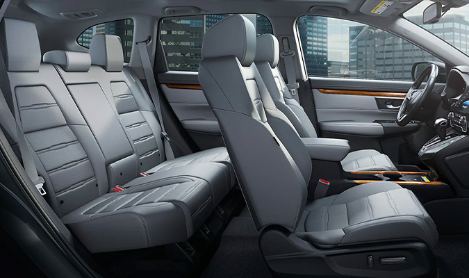 Touring shown with Gray Leather. Leather-trimmed interior standard on EX-L and Touring.