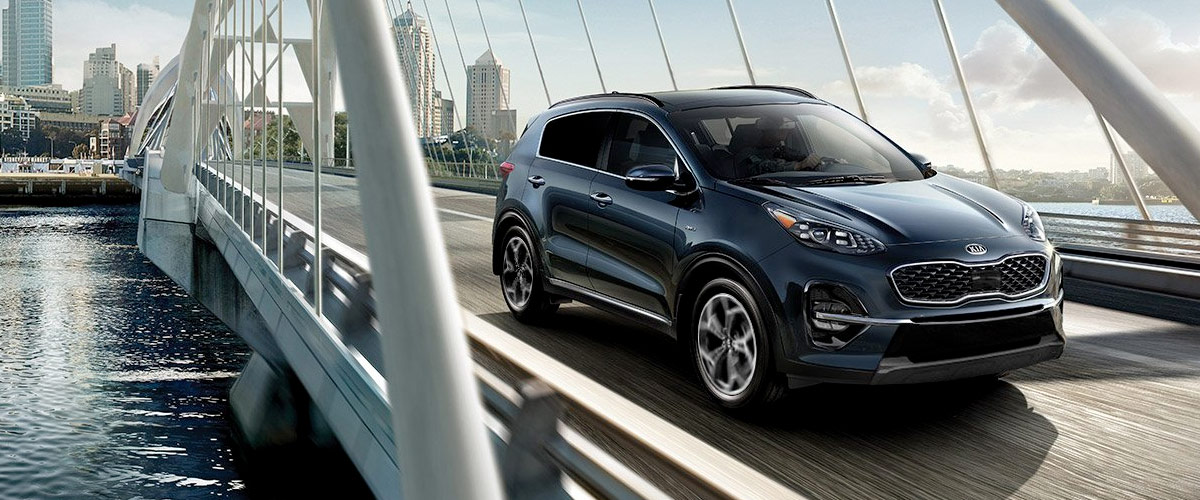 Kia sportage on a bridge