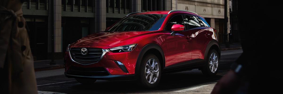 2020 Mazda CX-3 shown in red.