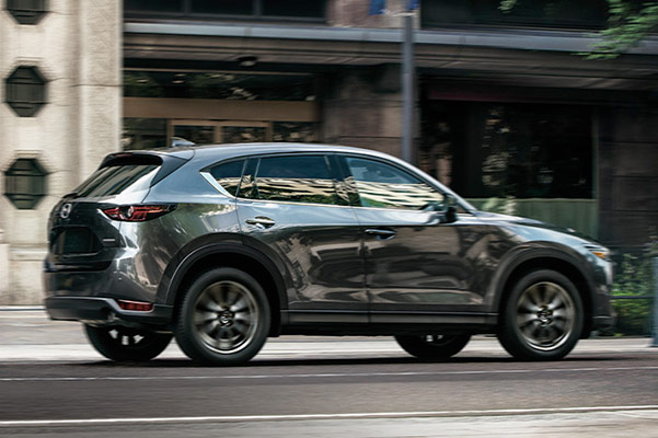 CX-5 rear view in city streets