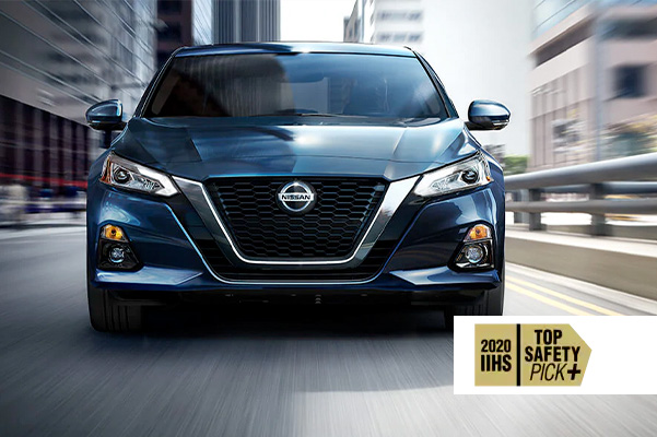 Altima with 2020 Top Safety pick plus logo