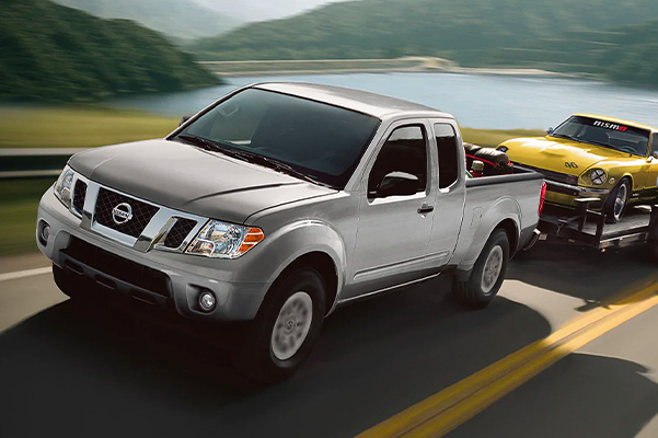 2020 Nissan Frontier towing another car