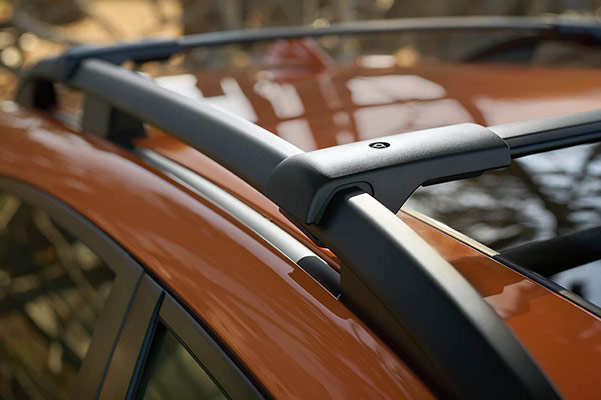 Subaru Image: Standard raised roof rails and accessory cross bars