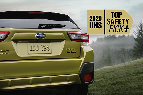 Crosstrek with IIHS Top Safety pick + logo
