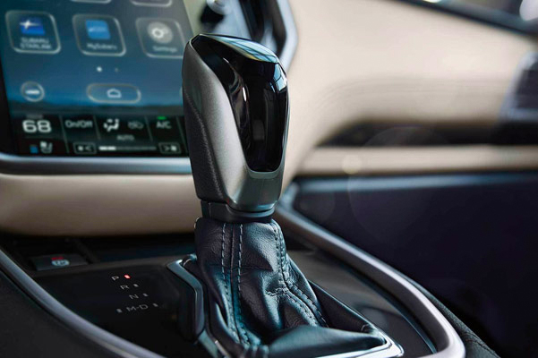 Available leather-wrapped shifter with boot