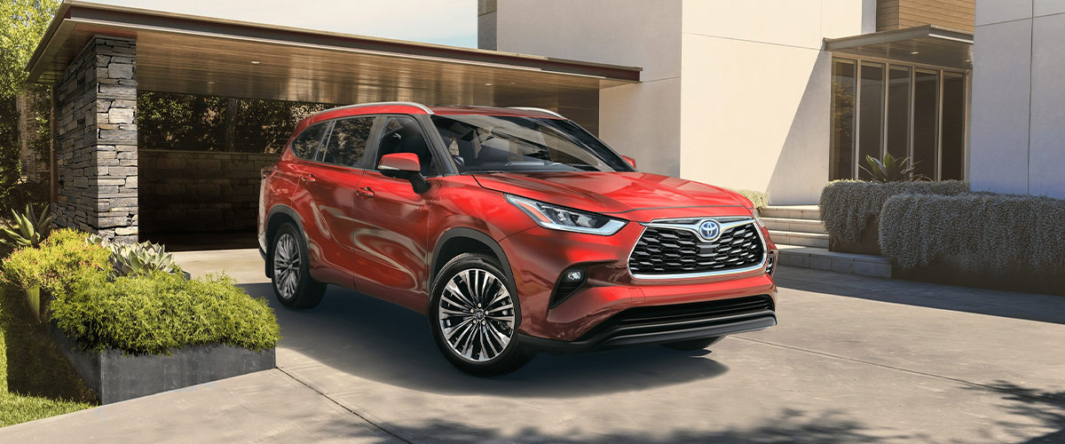 Red 2020 Toyota Highlander Outside