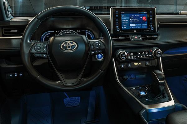 Interior dashboard of a 2020 Toyota RAV4