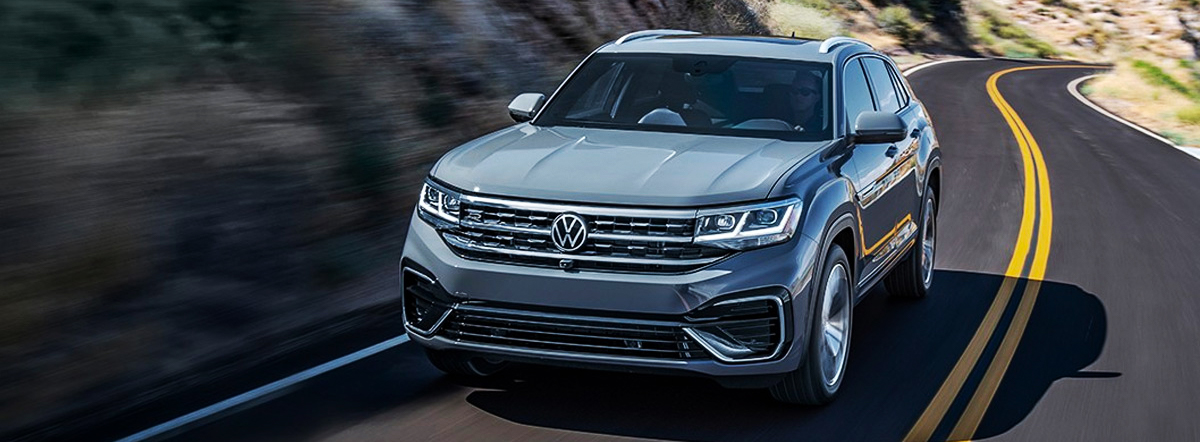 2020 Volkswagen Atlas Cross Sport shown in Pure Gray