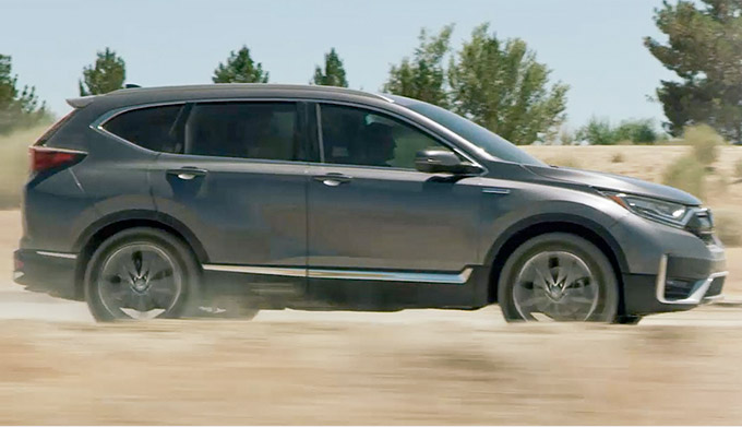 2020 Honda CR-V Hybrid at high speed