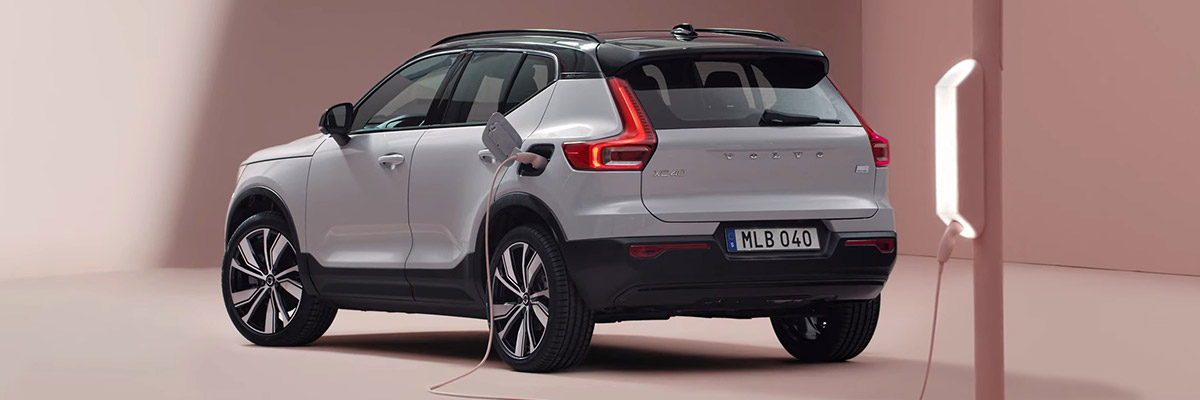 THE NEW 2020 VOLVO XC40 RECHARGE header
