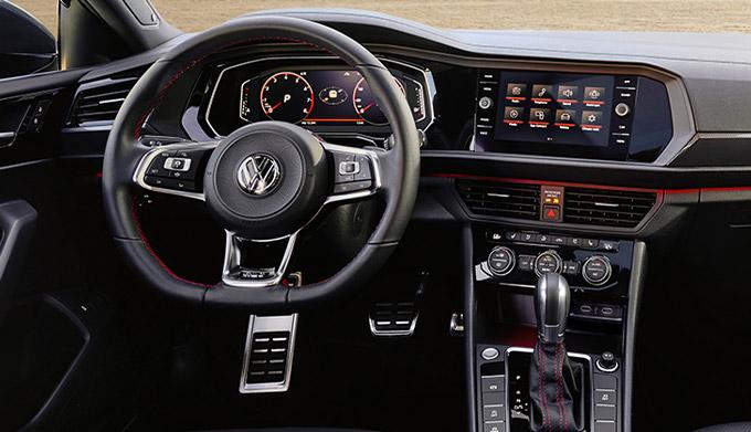 Jetta GLI Autobahn shown in Titan Black leather.