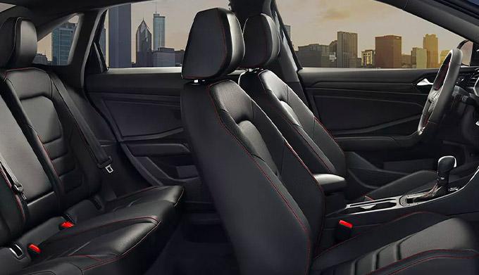 Jetta GLI shown in available Titan Black leather
