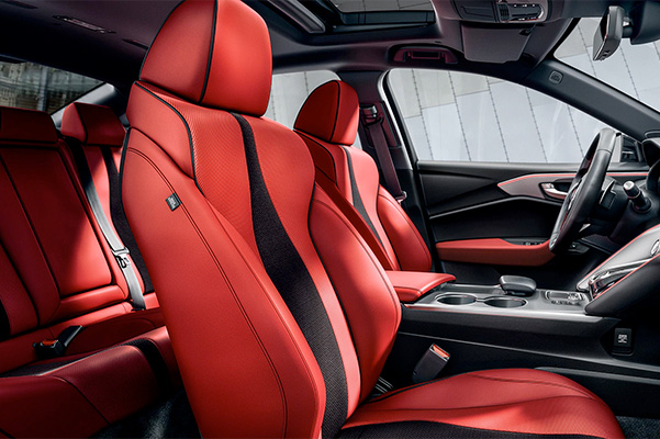 Acura TLX 2021 A-Spec with Red interior seats.