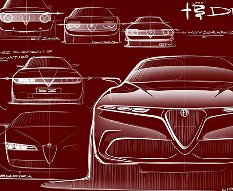 alfa romeo tonale artwork concept illustration