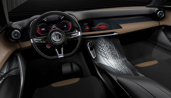 interior view of alfa romeo tonale hybrid showcasing drivers dashboard and digital dashboard