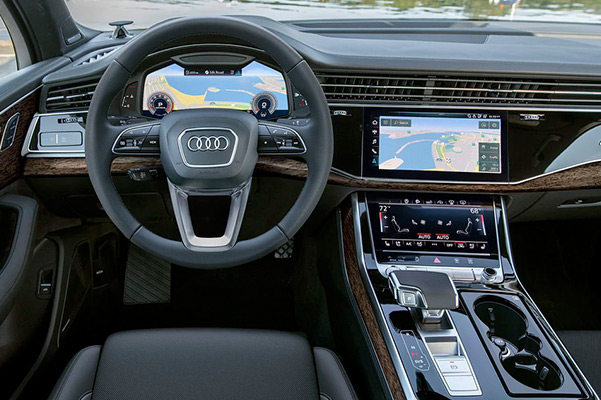 2021 Audi Q7 navigation screens