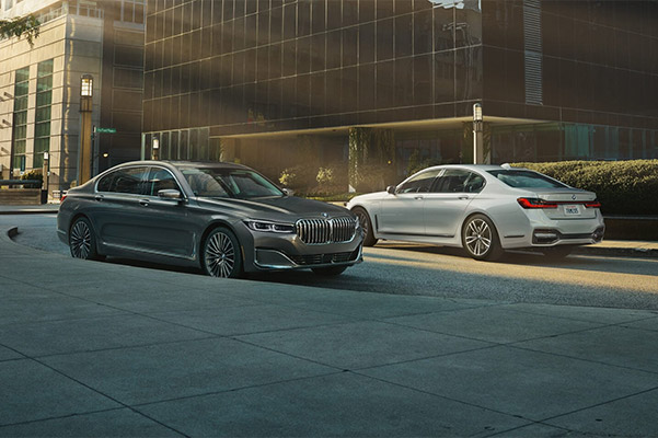Bmw 7 series sedan showcasing Back-up Assistant