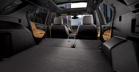 2021 Chevy Equinox Rear seats folded down