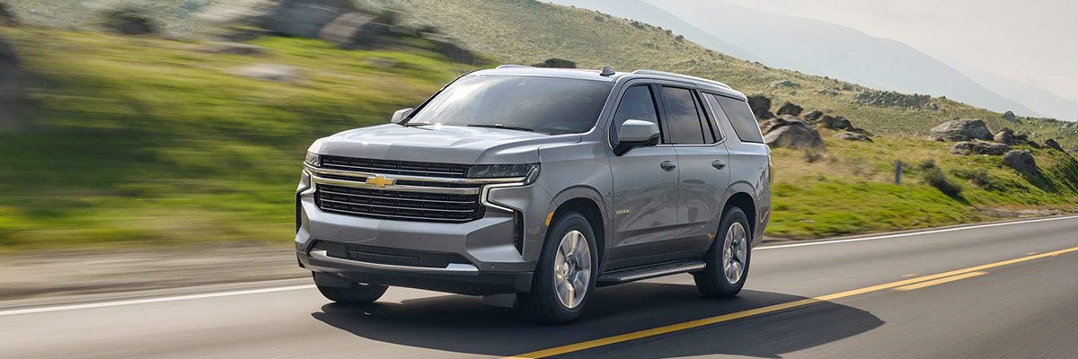 2021 Tahoe Exterior Side Profile Driving