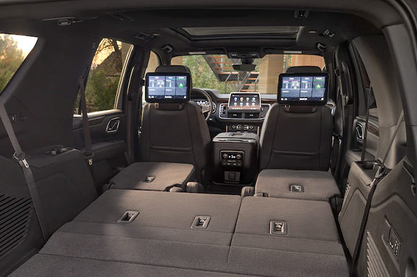 2021 Tahoe Interior Cargo Volume with rear seats down