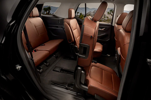 2021 Chevy traverse interior of back seat