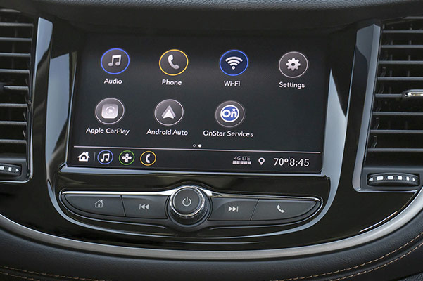 2021 Chevy Trax dash screen