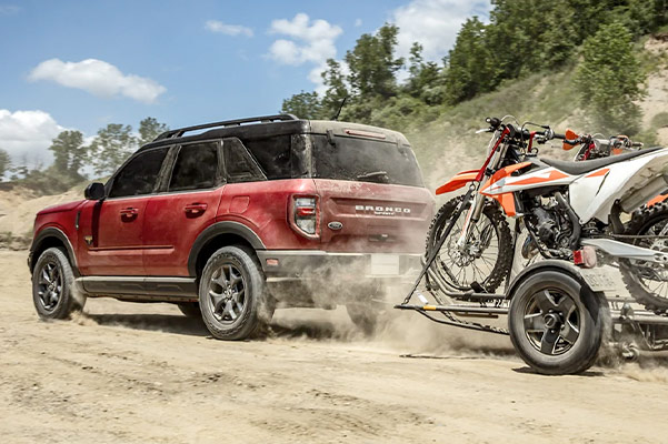 2021 Ford Bronco Sport pulling dirt bikes