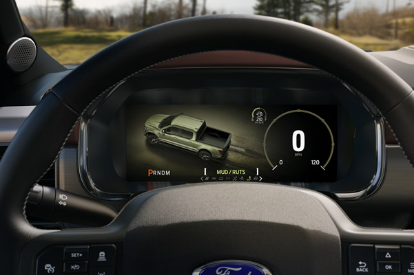 2021 Ford F-150 equipped with a 12-inch Digital Productivity Screen