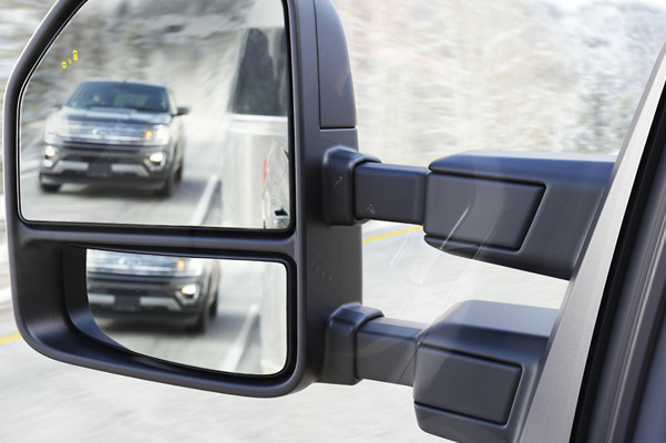 F-150 safety side mirrors with blind spot detection