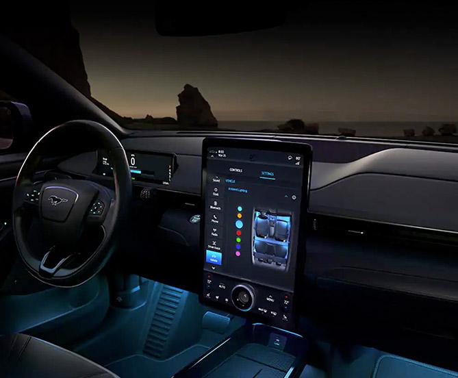 2022 Mach-E interior dash view