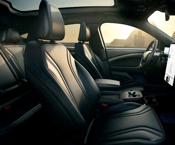 2022 Mach-E interior seating view