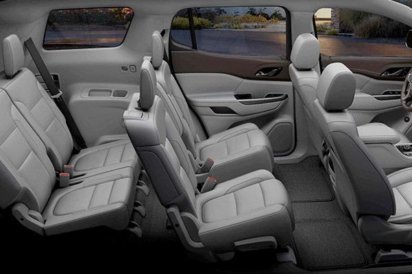 2021 GMC Acadia seating arrangement