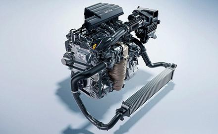 1.5-liter turbocharged engine detail in the 2021 Honda CR-V.
