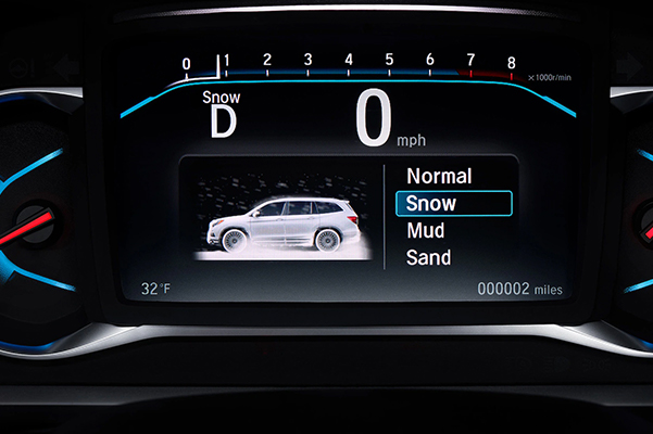 2021 Honda Pilot offers advanced controls for driving conditions: Normal, Snow Mud and Sand