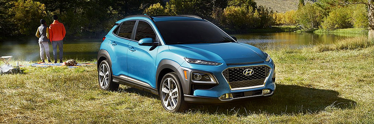 2021 Hyundai® Kona next to a lake