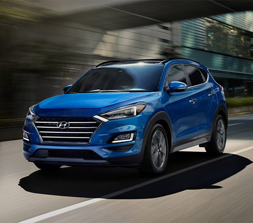 2021 Hyundai Tucson driving on street