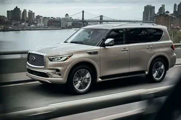2021 INFINITI QX80 SUV | Exterior View Highlighting Predictive Forward Collision Warning Technology | INFINITI USA
