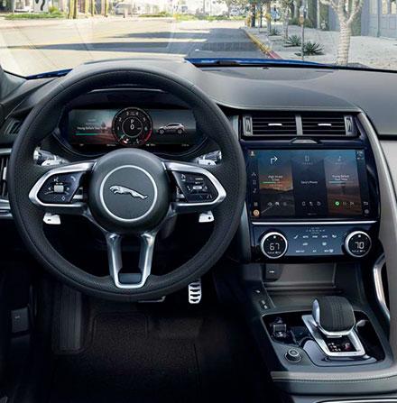 Jaguar E-PACE Interior Dashboard View.